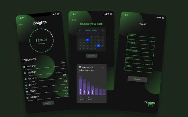 Figma Mobile app design sample