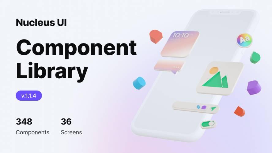 Figma Mobile App UI Component Library (Nucleus UI)