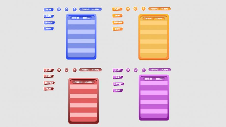 Figma Mobile game UI Buttons