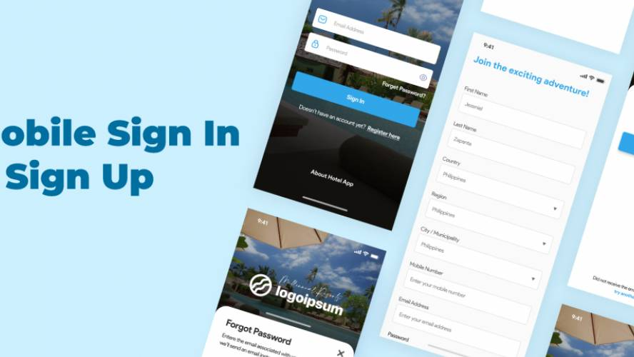 Figma Mobile Sign In & Sign Up UI Kit Free Download