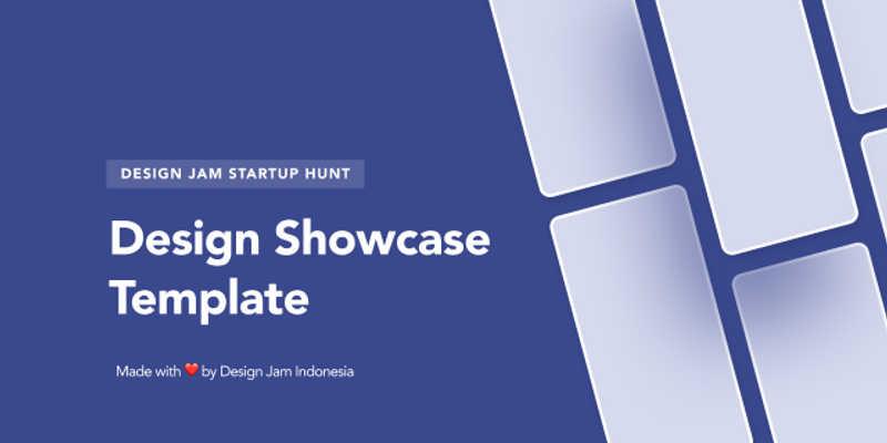 Figma mockup free Design Jam - Startup Hunt - Showcase Template