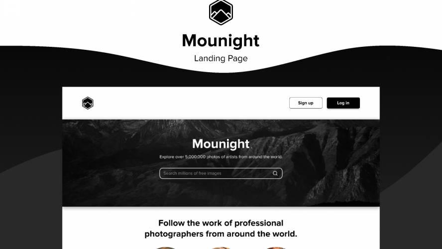 Figma Mounight Landing Page