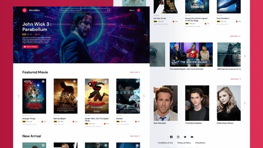 Figma MovieBox Website Template