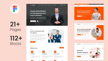 Figma Multipurpose Landing Page, Website Template