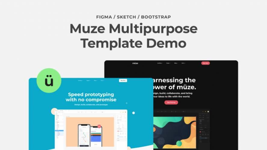 Figma Muze Multipurpose Template Free Download