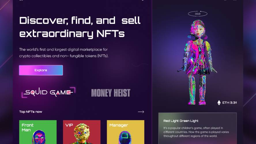 Figma NFT's Marketplace - Squid Game Concept