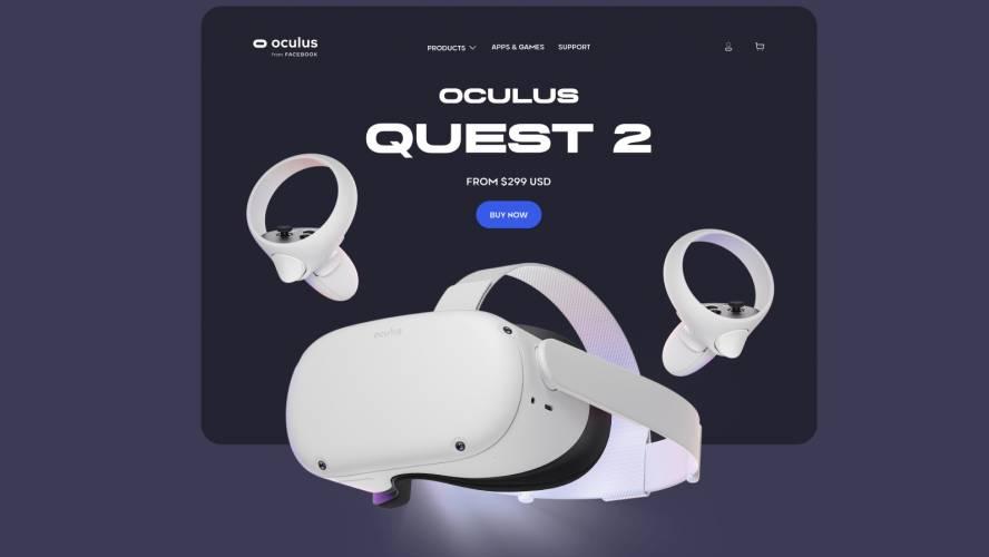 Figma Oculus Quest 2 - Landing Page Concept