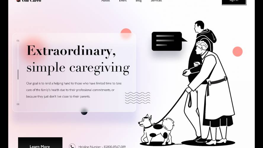 Figma Old-Careo Landing Page
