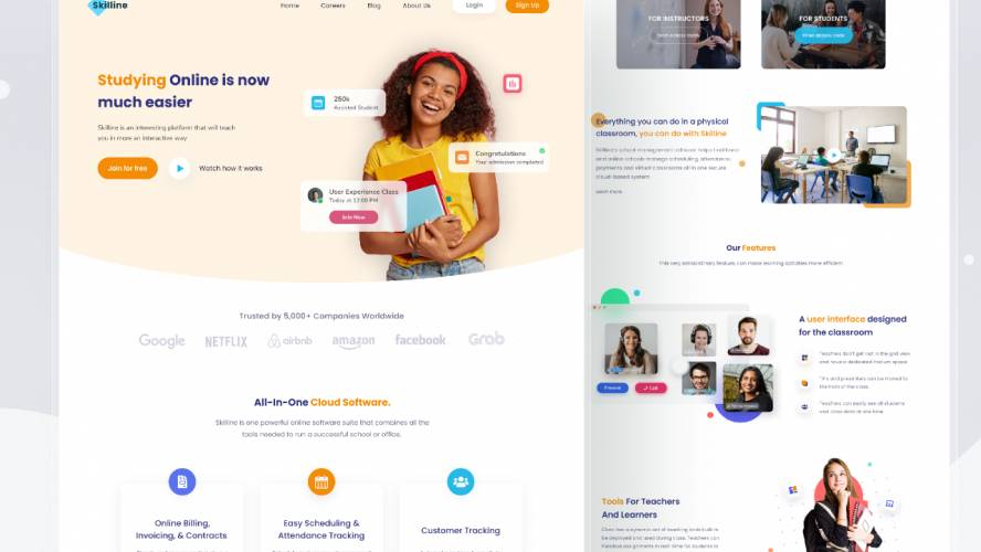 Figma Online Learning Landing Page