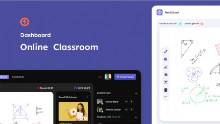 Figma Online Teaching Dashboard Free Download