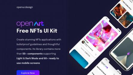 Figma Open Art - Free NFTs UI Kit