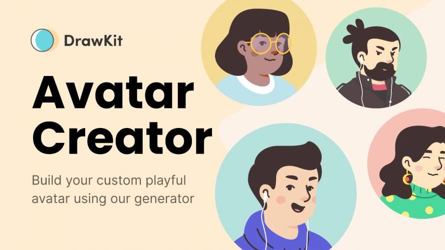 Figma Playful Avatar Creator - DrawKit