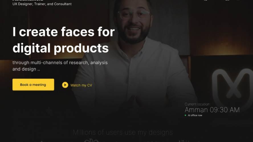 Figma Portfolio Website Template