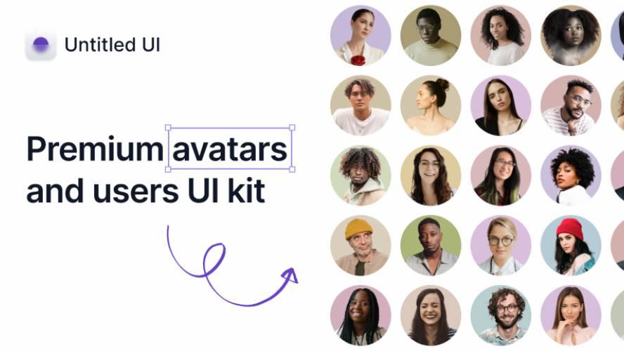 Figma Premium avatars and users UI kit – Untitled UI