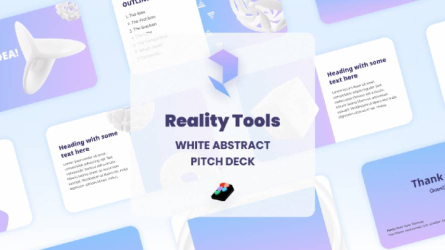 Figma Presentation White Abstract Icons - Pitch Deck