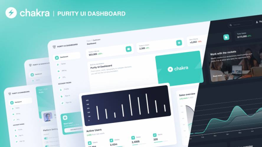 Figma Purity UI Dashboard - Chakra UI Dashboard