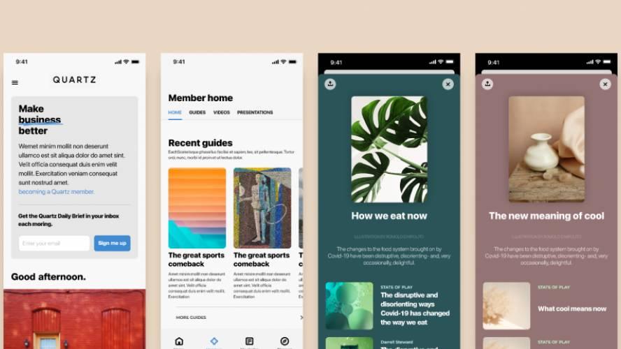 Figma Quartz iOS Clone Template