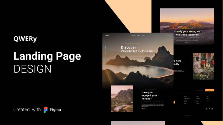 Figma QWERy Landing Page Free Download