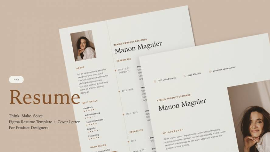 Figma Resume And Cover Letter Free Download
