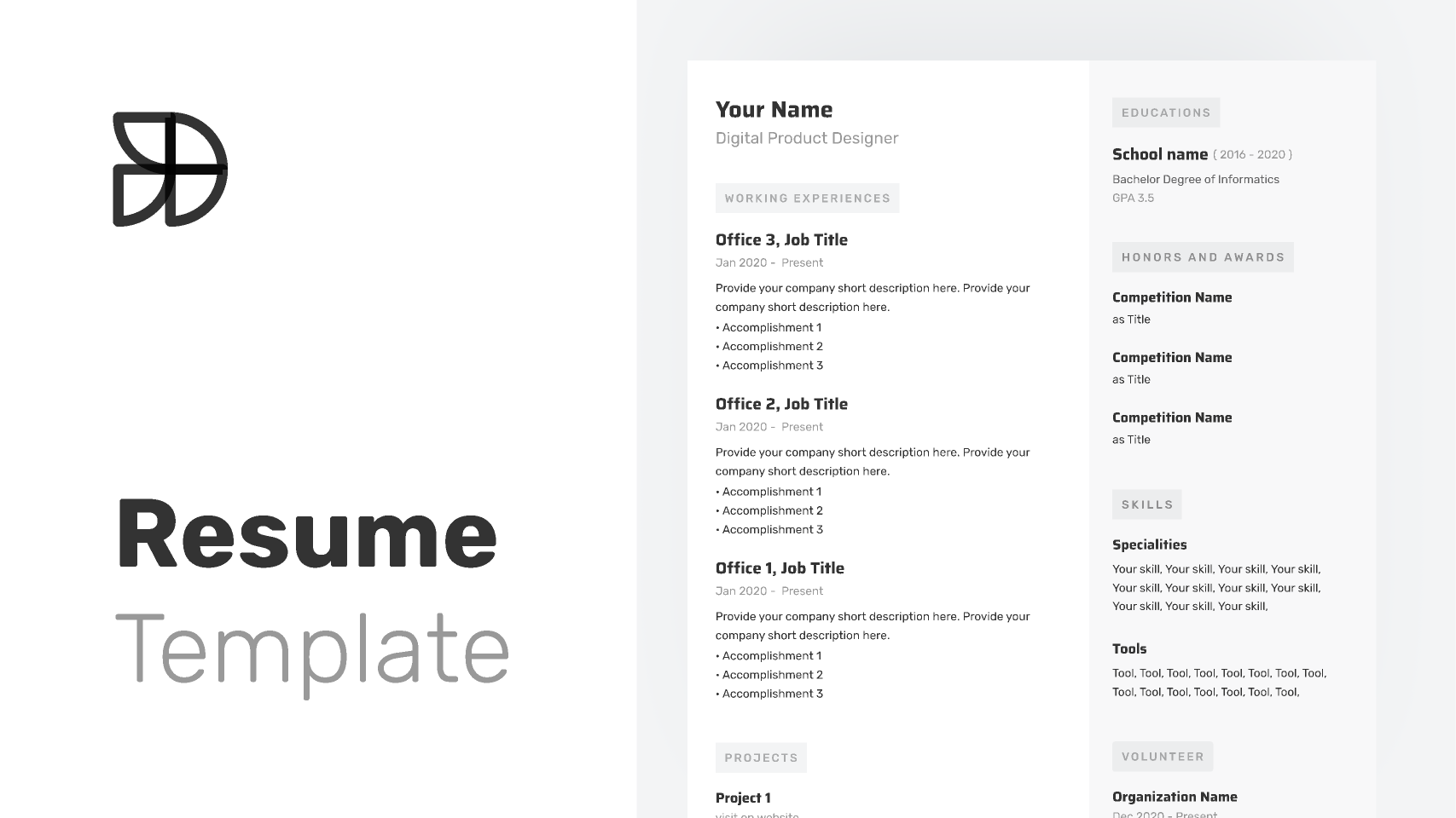 Figma Resume Template - With Auto Layout
