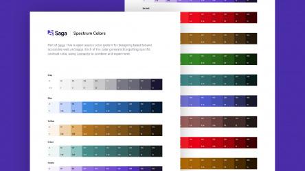 Figma Saga Spectrum Colors Template