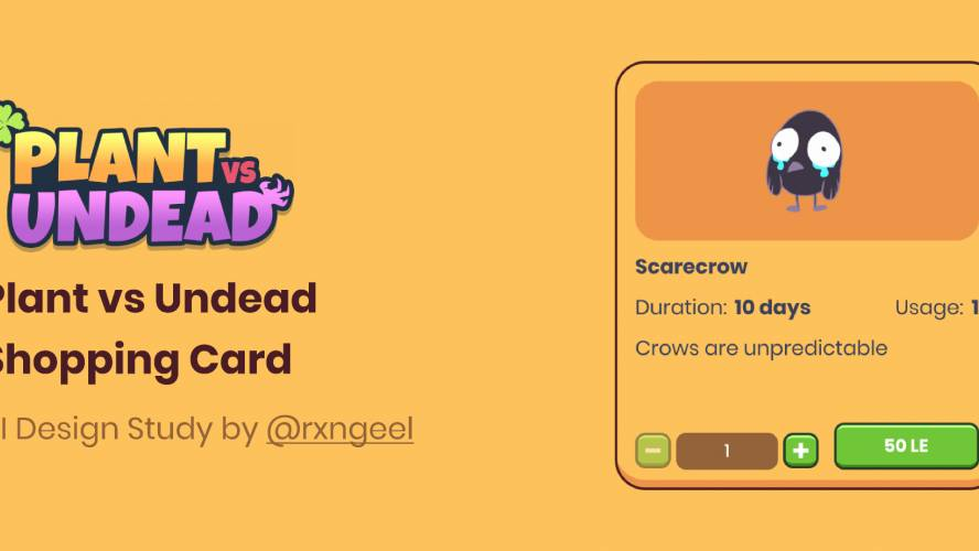 Figma Shopping Card Game Ui