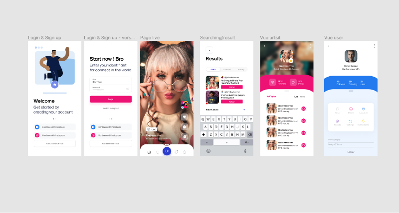 Figma simple app mobile template
