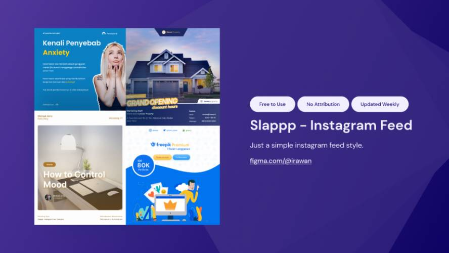 Figma Slappp Instagram Feed Template Free Download