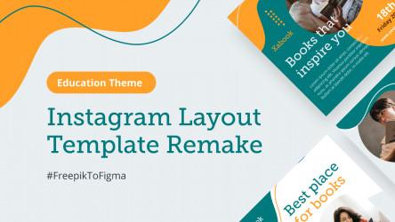Figma Social Media Instagram Template - Education