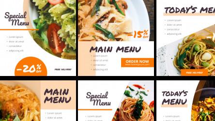 Figma Social Media Instagram Template - Food - Pasta free download