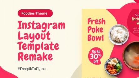 Figma Social Media Instagram Template - Foodies free download