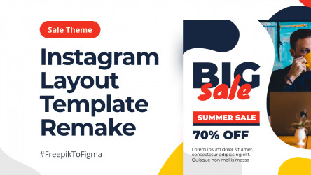 Figma Social Media Instagram Template - Sales