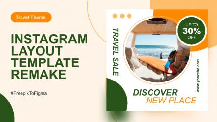 Figma Social Media Instagram Template (Travel)