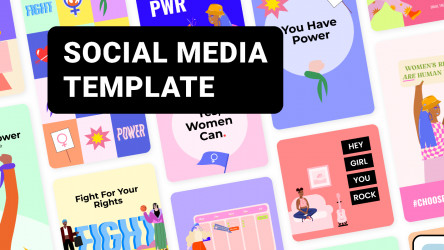 Figma Social Media Posts with Illustrations