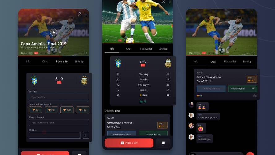 Figma Sports Live Score and Betting Application