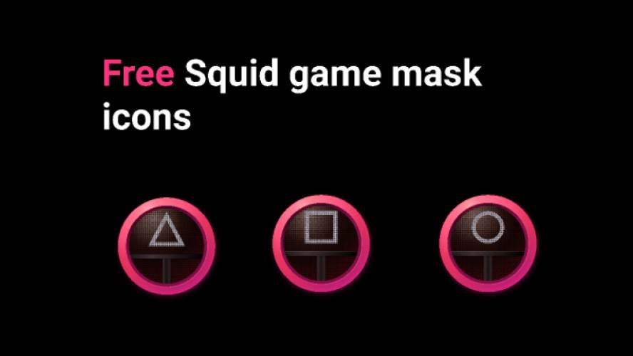 Figma Squid game mask icons