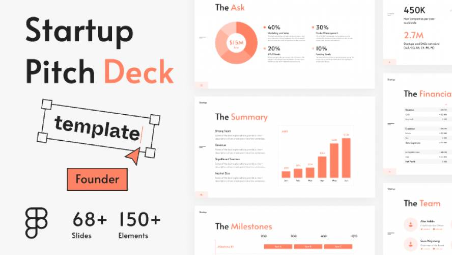 Figma Startup Pitch Deck Slide Template