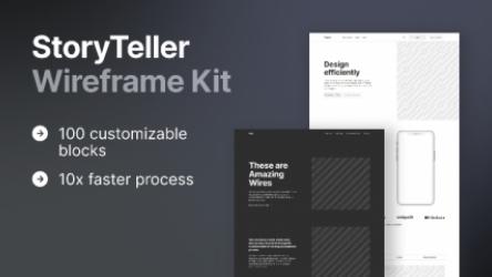 Figma StoryTeller Wireframe Kit Demo Free Download