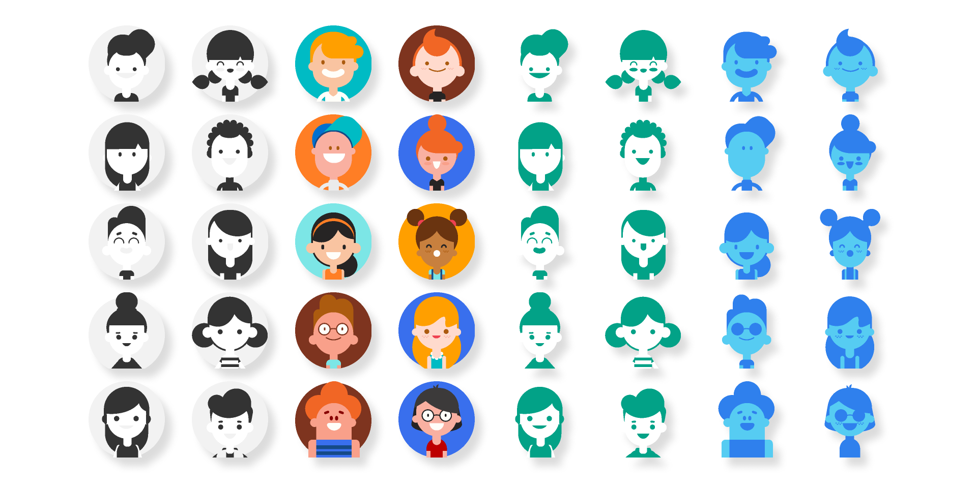 Figma SVG User Avatar Pack Free download