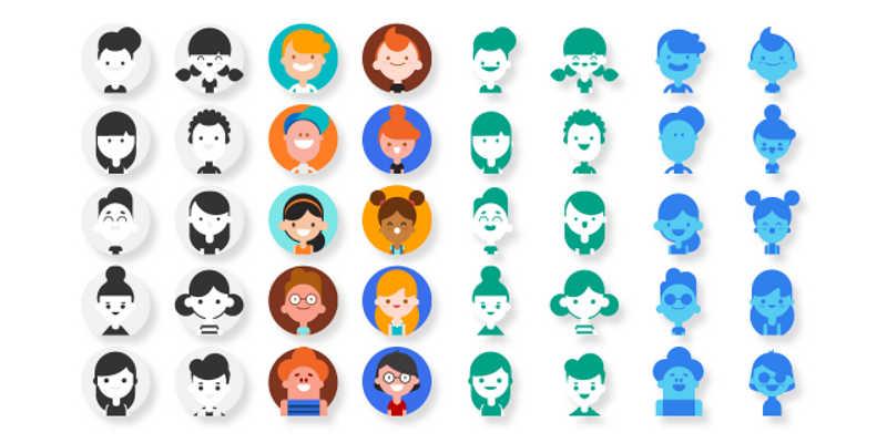 Figma SVG User Avatar Pack Free download
