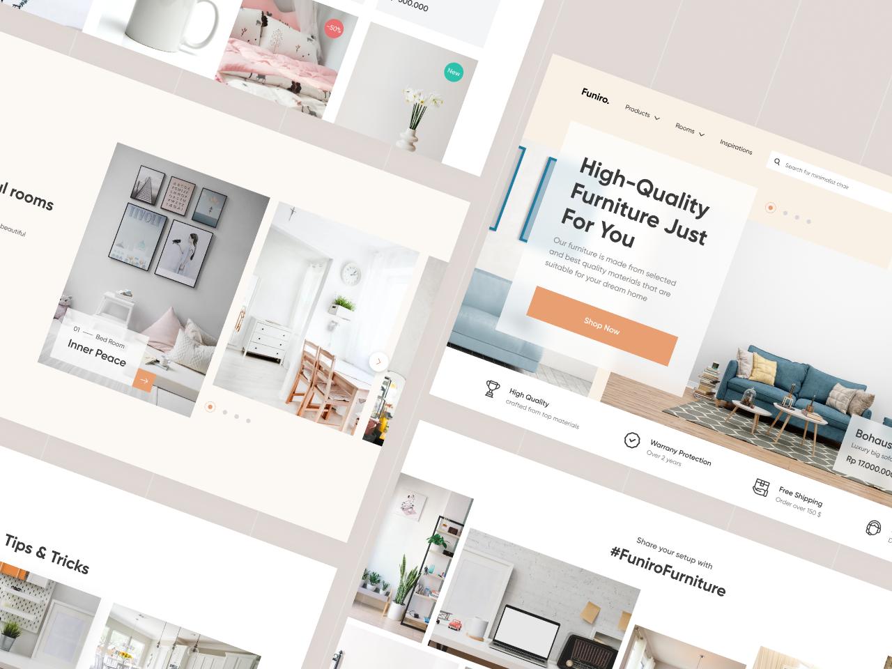 Figma Template Furniture Shop - Freebie