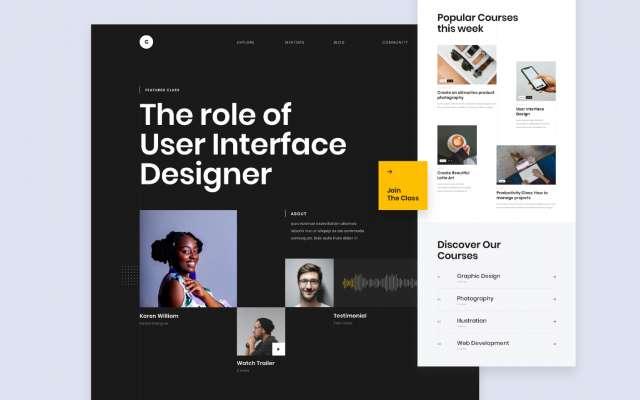 Figma template Grid Website Design