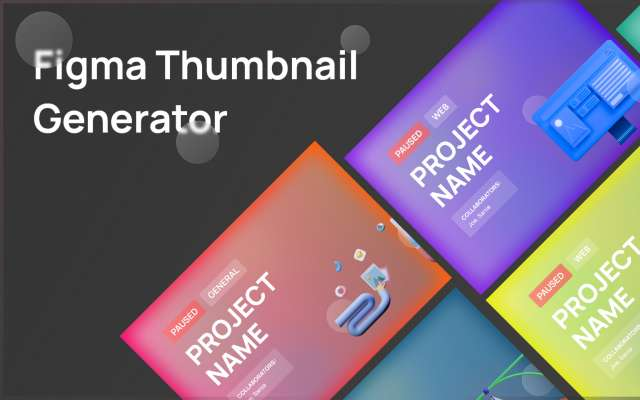 Figma Thumbnail Generator 3D free