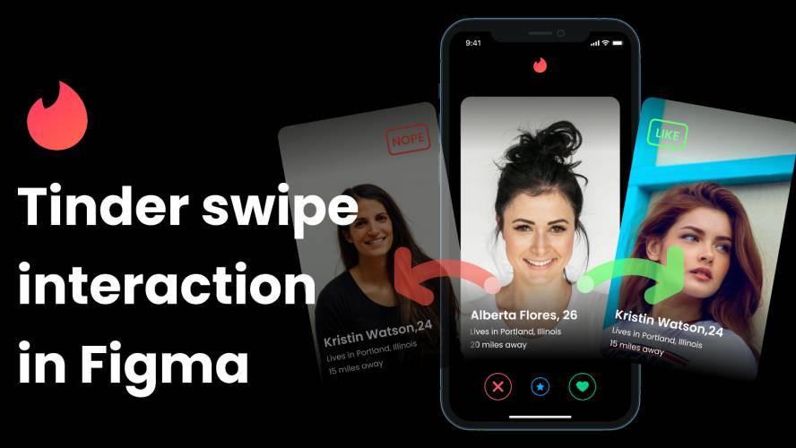 Figma Tinder Swipe interaction