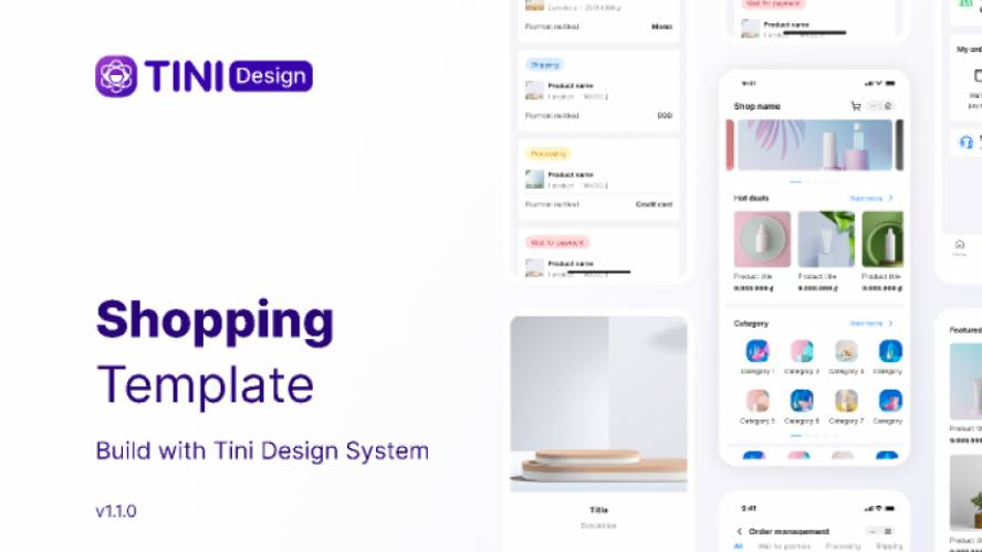 Figma Tini - Shopping App Template