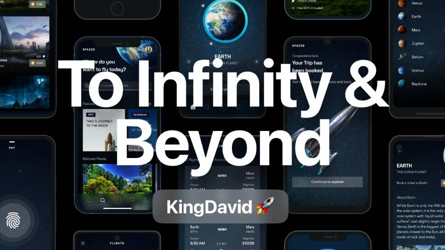 Figma To Infinity & Beyond Mobile App Template