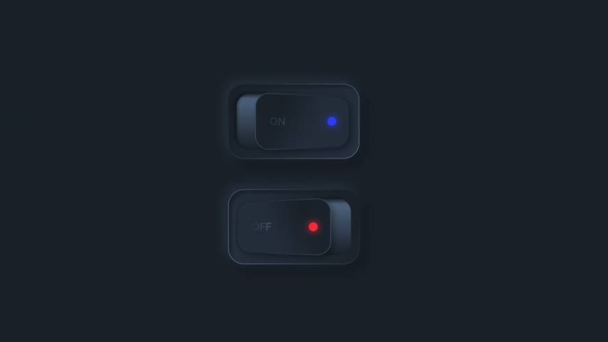 Figma Toggle Buttons 3D