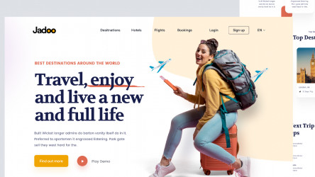 Figma Travel Website Landing Page Free Download