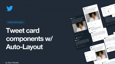 Figma Twitter Card Components