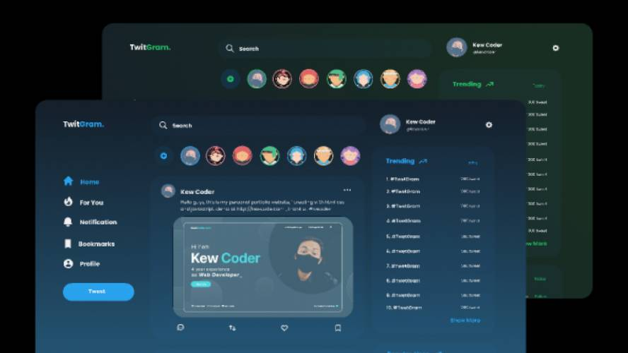 Figma Twitter Redesign Concept